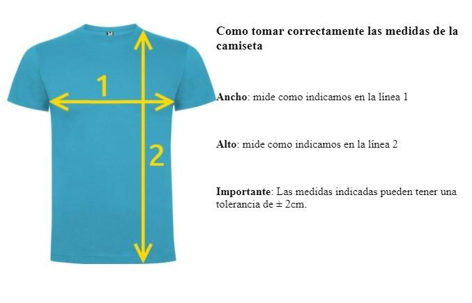 medir camisetas