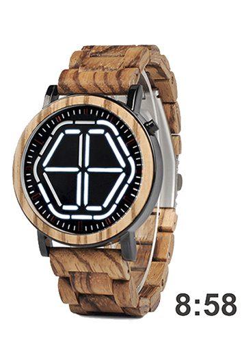 reloj futurista de madera 1