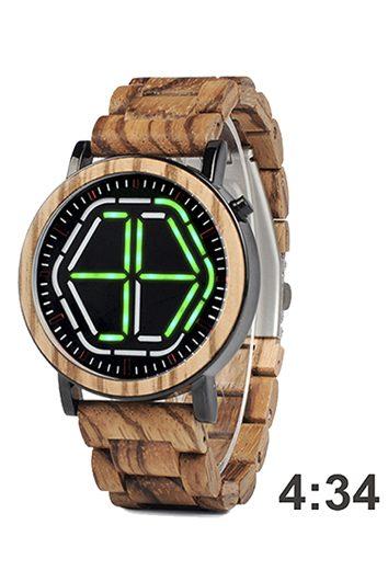 reloj futurista de madera 2